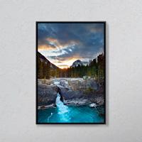 Kicking Horse River At The Natural Bridge, Yoho National Park, British, Columbia.
