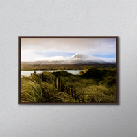 Croagh Patrick, County Mayo, Ireland; Mountain Scenic After Snow Storm