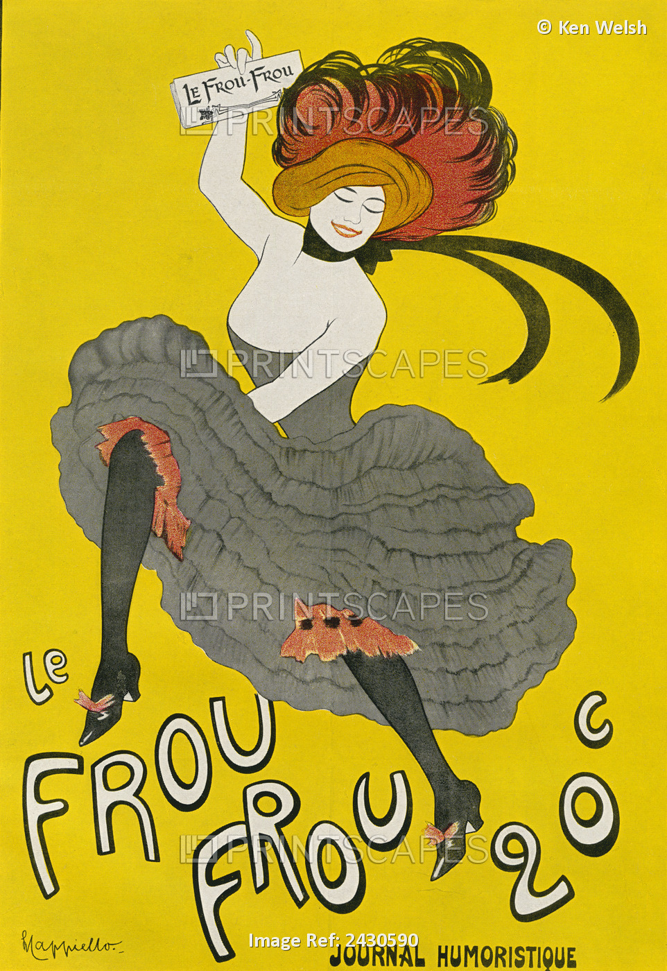 Poster For The Humorous Newspaper 'le Frou Frou', After Leonetto Capiello. From ...